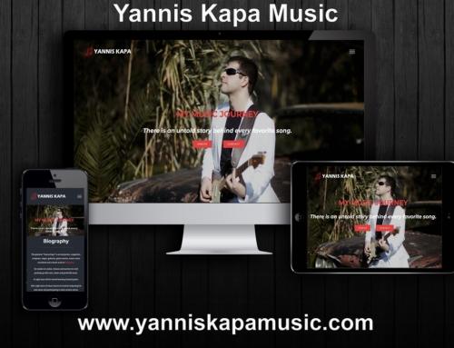 Yannis Kapa Musician Website Presentation